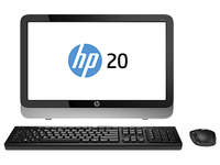 "HP 20-2015eb 1.4GHz E1-2500 19.45"" 1366 x 768Pixel Nero, Argento PC All-in-one"