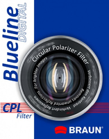 Braun 55mm Blueline Circular Polarising Filter Polarizzatore 55mm
