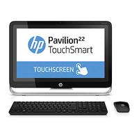 "HP Pavilion 22-h020es 1.5GHz A4-5000 21.5"" 1920 x 1080Pixel Touch screen Nero, Argento PC All-in-one"