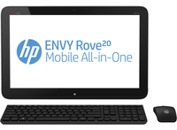 "HP ENVY Rove 20-k214 1.7GHz i3-4010U 20"" 1600 x 900Pixel Touch screen Nero, Argento PC All-in-one"