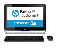 "HP Pavilion 21-h013w TouchSmart 2.6GHz G3220T 21.5"" 1920 x 1080Pixel Touch screen Nero, Argento PC All-in-one"