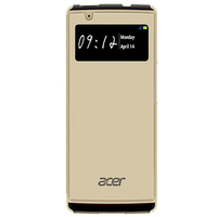 Acer Liquid E3 Flip Case, Golden Custodia a libro Oro