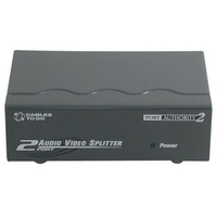 C2G 2-Port UXGA Monitor Splitter/Extender with Audio VGA