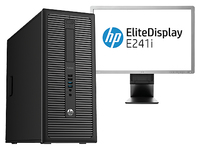 HP ProDesk 600 G1 MT + EliteDisplay E241i 3.2GHz i5-4570 Torre Nero PC