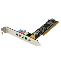 StarTech.com Scheda Audio interna PCI surround 5.1 canali - 5.1 PCI Surround Sound Card