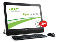 "Acer Aspire 600 2.41GHz J2850 22"" 1920 x 1080Pixel Touch screen Nero, Bianco PC All-in-one"