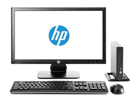 HP ProDesk DESKTOP BUNDEL (F6X26ET+E5Z95AT) 600 MINI Pentium C3220 + V241a monitor 2.6GHz G3220T Scrivania Nero Mini PC
