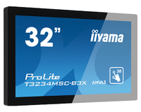 "iiyama ProLite T3234MSC-B3X 31.5"" 1920 x 1080Pixel Multi-touch Multi utente Nero monitor touch screen"