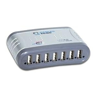C2G Port Authority 7-Port USB 2.0 Hub 480Mbit/s Grigio perno e concentratore
