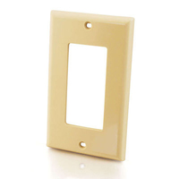 C2G Decorative Single Gang Wall Plate - Ivory Avorio supporto da parete per tv a schermo piatto
