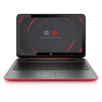 "HP Pavilion 15-p030nr Beats Special Edition 1.7GHz A8-5545M 15.6"" 1366 x 768Pixel Touch screen Nero, Rosso Computer portatile"