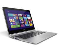 "Acer Aspire 392G-54206G50tws 1.6GHz i5-4200U 13.3"" 1366 x 768Pixel Touch screen Argento, Bianco Computer portatile"