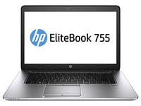 "HP EliteBook 755 G2 2.1GHz A10-7350B 15.6"" 1920 x 1080Pixel Touch screen Nero, Argento Computer portatile"