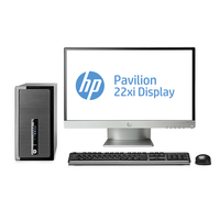 HP ProDesk 490 G1 MT + Pavilion 22xi 3.2GHz i5-4570 Microtorre Nero PC