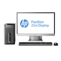 HP ProDesk 400 G1 MT + Pavilion 22xi 3.4GHz i3-4130 Microtorre Nero PC