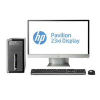 HP ProDesk 400 G1 MT + Pavilion 23xi 3.4GHz i3-4130 Microtorre Nero PC