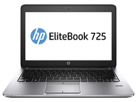 "HP EliteBook 725 G2 2.1GHz A10-7350B 12.5"" 1920 x 1080Pixel Touch screen Nero, Argento Computer portatile"