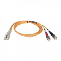 Tripp Lite Multimode Fiber Optics 15-m (50-ft.) Duplex MMF 50/125 Patch Cable, LC/ST 15m Arancione cavo a fibre ottiche