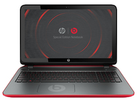 "HP Pavilion 15-p099nd Beats Special Edition 1.7GHz A8-5545M 15.6"" 1366 x 768Pixel Touch screen Nero, Rosso Computer portatile"
