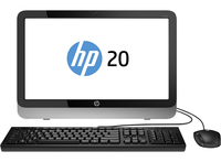 "HP Pavilion 20-2110nz 2.41GHz J2900 19.45"" 1600 x 900Pixel Nero, Argento PC All-in-one"
