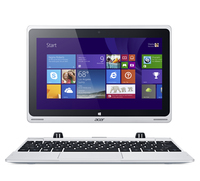 "Acer Aspire SWITCH 10 1.33GHz Z3745 10.1"" 1366 x 768Pixel Touch screen Metallico, Bianco Ibrido (2 in 1)"