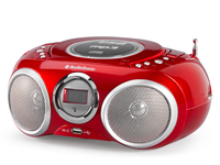 AudioSonic CD 570 Digitale 6W Rosso radio CD