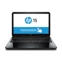 "HP r052nr 1.7GHz i3-4005U 15.6"" 1366 x 768Pixel Touch screen Nero Computer portatile"