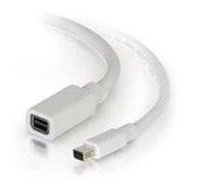 C2G 2.0m Mini DisplayPort M/F 2m Mini DisplayPort Mini DisplayPort Bianco