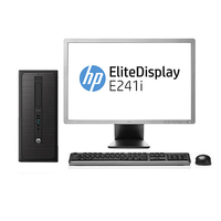 HP 600 G1 MT + EliteDisplay E241i 3.3GHz i5-4590 Microtorre Nero PC
