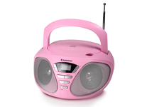 AudioSonic CD-1567 Digitale 6W Rosa radio CD