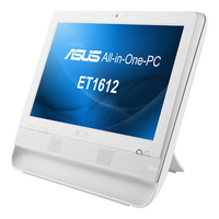 "ASUS ET ET1612IUTS-W004F 1.6GHz 1017U 15.6"" 1366 x 768Pixel Touch screen Bianco PC All-in-one All-in-One PC"