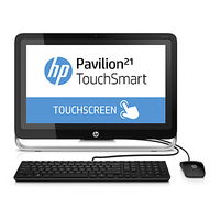 "HP Pavilion 21-h116 TouchSmart 2.6GHz G3220T 21.5"" 1920 x 1080Pixel Touch screen Nero, Argento PC All-in-one"