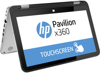 "HP Pavilion x360 13-a000ns 1.9GHz i3-4030U 13.3"" 1366 x 768Pixel Touch screen Nero, Argento Ibrido (2 in 1)"