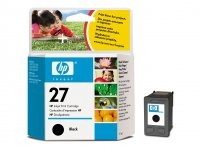 HP 27 Black Inkjet Print Cartridge Nero cartuccia d