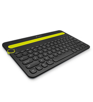 Logitech K480 Bluetooth QWERTY Pan Nordic Nero, Verde tastiera per dispositivo mobile