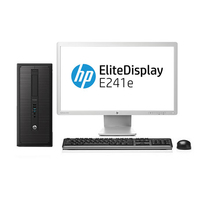HP ProDesk 600 G1 MT + EliteDisplay E241e 3.3GHz i5-4590 Microtorre Nero PC