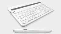 Logitech K480 Bluetooth QWERTY US International Grigio, Bianco tastiera per dispositivo mobile
