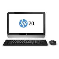 "HP 20-2201a 2.41GHz J2900 19.45"" 1600 x 900Pixel Nero, Argento PC All-in-one"