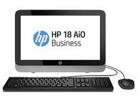 "HP 18 2.41GHz J2900 18.5"" 1366 x 768Pixel Nero, Argento PC All-in-one"