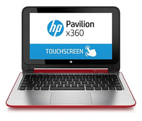 "HP Pavilion x360 11-n050nd 2.16GHz N3540 11.6"" 1366 x 768Pixel Touch screen Rosso, Argento Computer portatile"