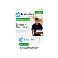 HP Instant Ink - 1st Month Enrollment Card - POSA/GB - 100-page plan cartuccia d