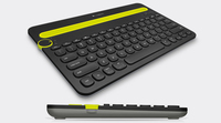 Logitech K480 Bluetooth QZERTY Italiano Nero, Verde tastiera per dispositivo mobile