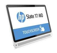 "HP Slate 17-l010 1.58GHz N2807 17.3"" 1920 x 1080Pixel Touch screen Nero, Bianco PC All-in-one"