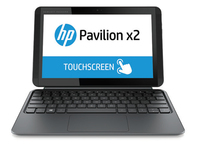 "HP Pavilion x2 10-j010tu 1.33GHz Z3745D 10.1"" 1280 x 800Pixel Touch screen Grigio, Argento Ibrido (2 in 1)"