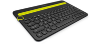 Logitech K480 Bluetooth QWERTY Inglese UK Nero, Giallo tastiera per dispositivo mobile