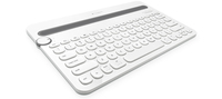 Logitech K480 Bluetooth QWERTY Inglese UK Grigio, Bianco tastiera per dispositivo mobile