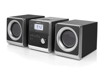 AudioSonic HF-1260 Home audio micro system 10W Nero, Argento set audio da casa