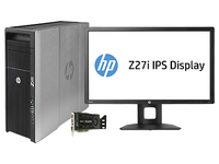 HP 620 + Z27i + NVIDIA Quadro K4000 2.6GHz E5-2650V2 Mini Tower Nero PC