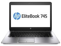 "HP EliteBook NOTEBOOK BUNDEL (F1Q24EA+H5M91ET) 745 AMD + Business Slim Top Load Case 1.9GHz A8-7150B 14"" 1366 x 768Pixel Argento Computer portatile"