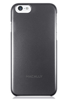 Macally SNAPP6MB Cover Nero, Metallico custodia per cellulare